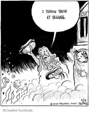 Comic Strip John Deering  Strange Brew 2010-11-13 animal god