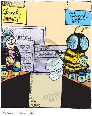 Cartoonist John Deering  Strange Brew 2010-11-26 food sample