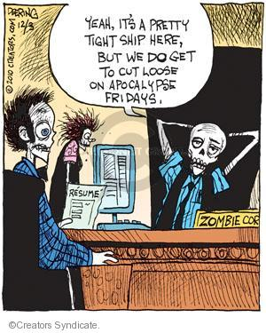 Comic Strip John Deering  Strange Brew 2010-12-03 zombie movie