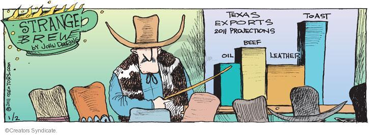 Comic Strip John Deering  Strange Brew 2011-01-02 projection