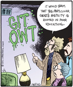 Comic Strip John Deering  Strange Brew 2011-01-03 wall