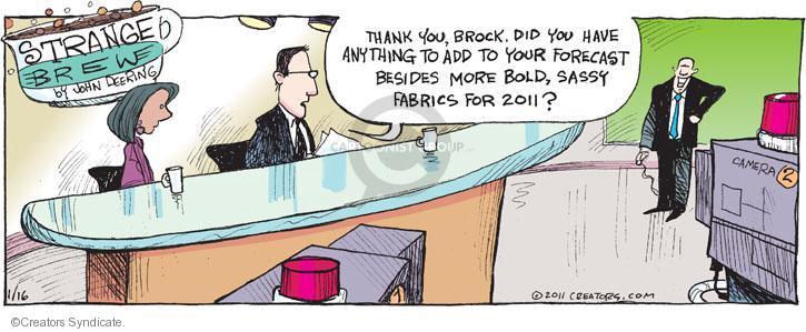 Comic Strip John Deering  Strange Brew 2011-01-16 broadcaster