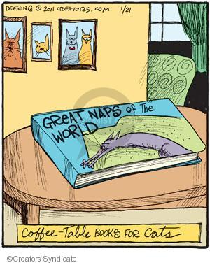 Comic Strip John Deering  Strange Brew 2011-01-21 cat nap