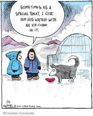 Comic Strip John Deering  Strange Brew 2011-01-31 treat