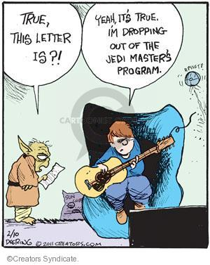 Comic Strip John Deering  Strange Brew 2011-02-10 college education