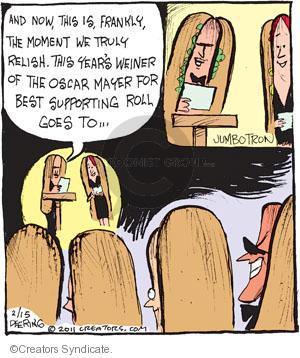 Cartoonist John Deering  Strange Brew 2011-02-15 hot dog