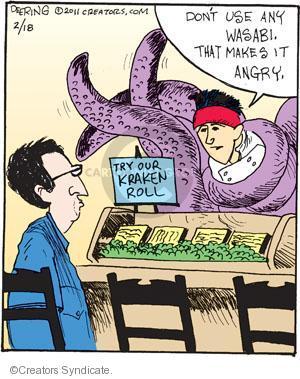 Comic Strip John Deering  Strange Brew 2011-02-18 fish
