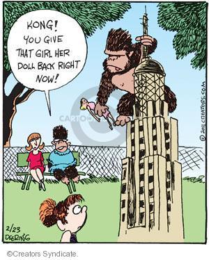 Comic Strip John Deering  Strange Brew 2011-02-23 monkey