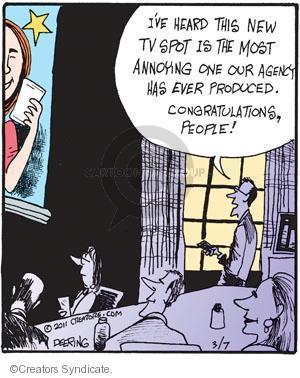 Cartoonist John Deering  Strange Brew 2011-03-07 television cartoon