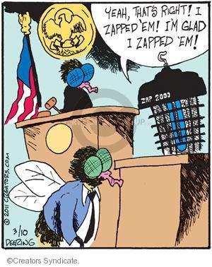 Cartoonist John Deering  Strange Brew 2011-03-10 laws