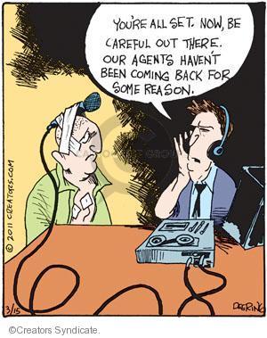 Comic Strip John Deering  Strange Brew 2011-03-15 undercover