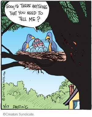 Comic Strip John Deering  Strange Brew 2011-03-17 Easter egg