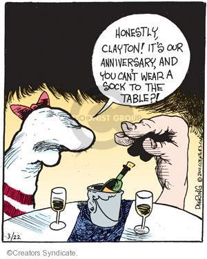 Comic Strip John Deering  Strange Brew 2011-03-22 clothing