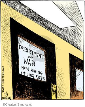 Department of War. Now hiring smiling faces.