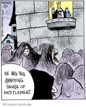 Cartoonist John Deering  Strange Brew 2011-04-07 peasant