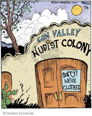 Comic Strip John Deering  Strange Brew 2011-04-08 clothing