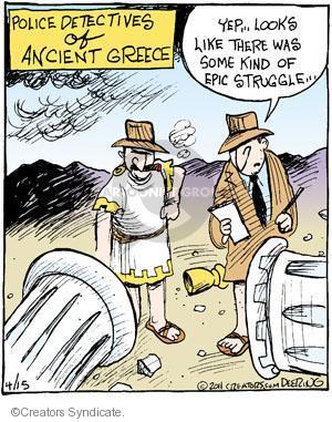Comic Strip John Deering  Strange Brew 2011-04-15 crime scene
