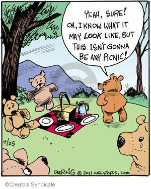 Comic Strip John Deering  Strange Brew 2011-04-25 teddy bear