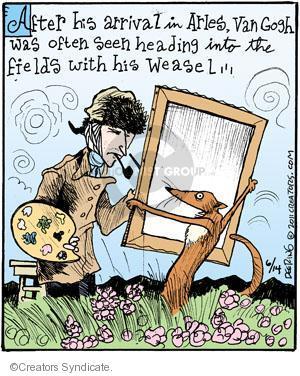 Cartoonist John Deering  Strange Brew 2011-06-14 van