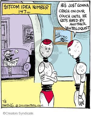 Cartoonist John Deering  Strange Brew 2011-07-08 television cartoon