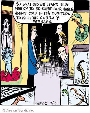 Comic Strip John Deering  Strange Brew 2011-07-15 poison