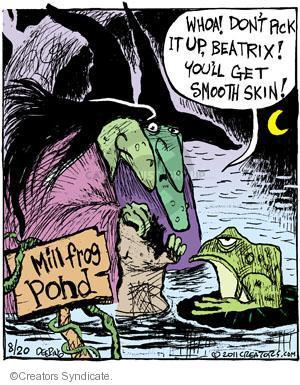 Comic Strip John Deering  Strange Brew 2011-08-20 get old