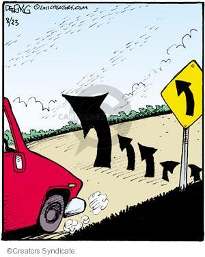 Cartoonist John Deering  Strange Brew 2011-08-23 arrow
