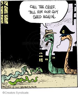Comic Strip John Deering  Strange Brew 2011-08-27 crime scene