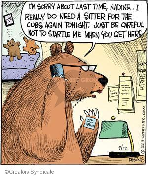 Comic Strip John Deering  Strange Brew 2011-09-12 bear attack