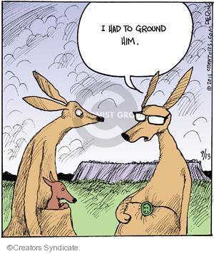 Comic Strip John Deering  Strange Brew 2011-09-13 punishment