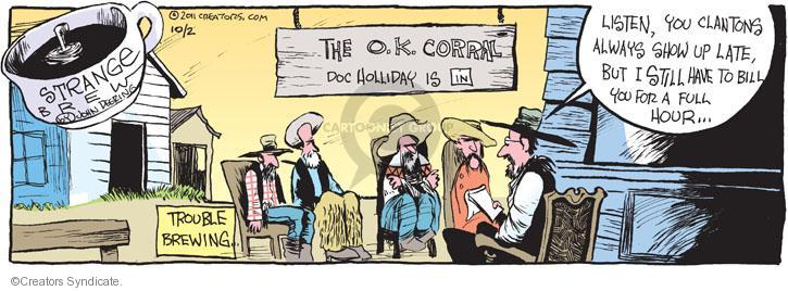 Comic Strip John Deering  Strange Brew 2011-10-02 arrival