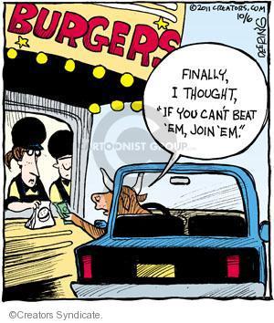 Comic Strip John Deering  Strange Brew 2011-10-06 fast food hamburger