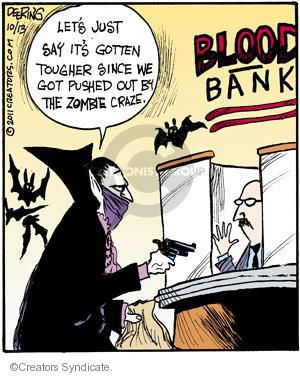 Comic Strip John Deering  Strange Brew 2011-10-13 bank robber