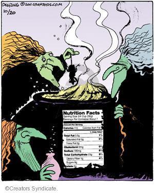 Comic Strip John Deering  Strange Brew 2011-10-20 food label