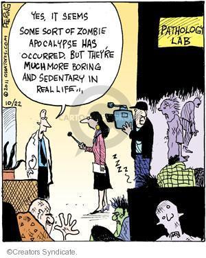 Comic Strip John Deering  Strange Brew 2011-10-22 zombie movie