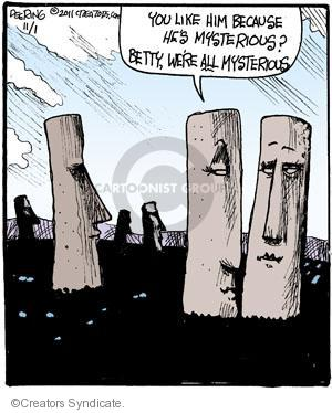 Comic Strip John Deering  Strange Brew 2011-11-01 mysterious