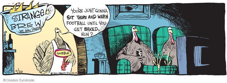 Cartoonist John Deering  Strange Brew 2011-11-20 television cartoon