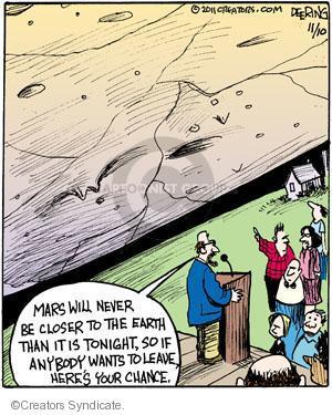 Comic Strip John Deering  Strange Brew 2011-11-10 earth