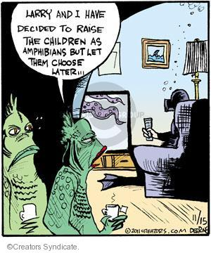 Comic Strip John Deering  Strange Brew 2011-11-15 amphibian