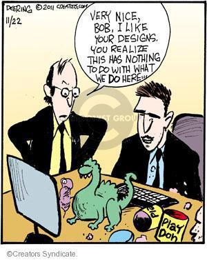 Comic Strip John Deering  Strange Brew 2011-11-22 Bob