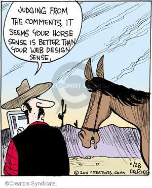 Cartoonist John Deering  Strange Brew 2011-11-28 sense