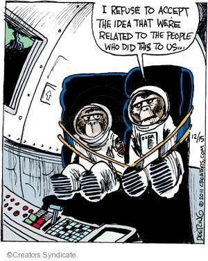 Comic Strip John Deering  Strange Brew 2011-12-15 monkey