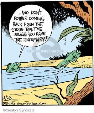 Comic Strip John Deering  Strange Brew 2011-12-28 amphibian