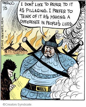 Comic Strip John Deering  Strange Brew 2012-01-05 difference