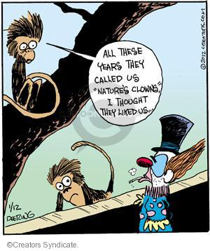 Comic Strip John Deering  Strange Brew 2012-01-12 monkey