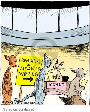 Comic Strip John Deering  Strange Brew 2012-01-21 cat nap