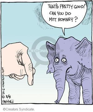 Comic Strip John Deering  Strange Brew 2012-02-04 Mitt Romney