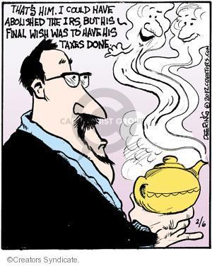 Comic Strip John Deering  Strange Brew 2012-02-06 tax