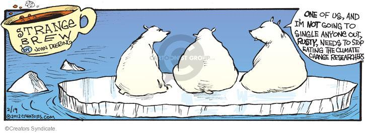 Comic Strip John Deering  Strange Brew 2012-02-19 environment