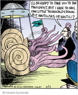 Comic Strip John Deering  Strange Brew 2012-02-17 grammatical